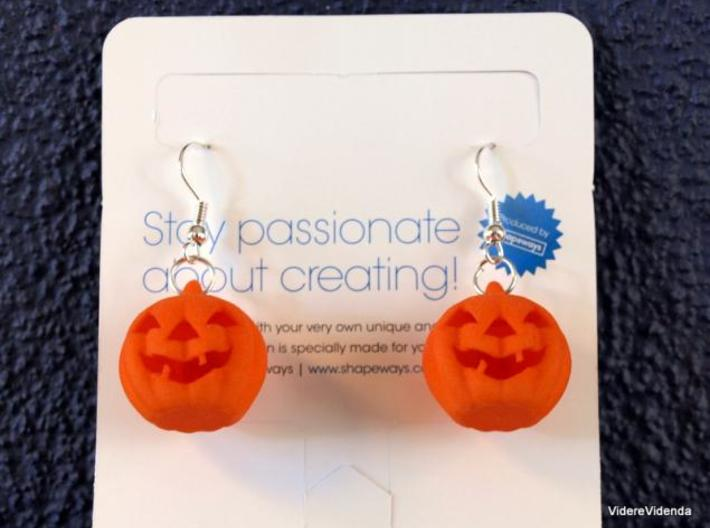 Halloween Pumpkin earrings (set - 2pcs) 3d printed Description