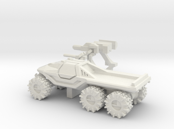 All-Terrain Vehicle 6x6 closed cab with weapons 3d printed