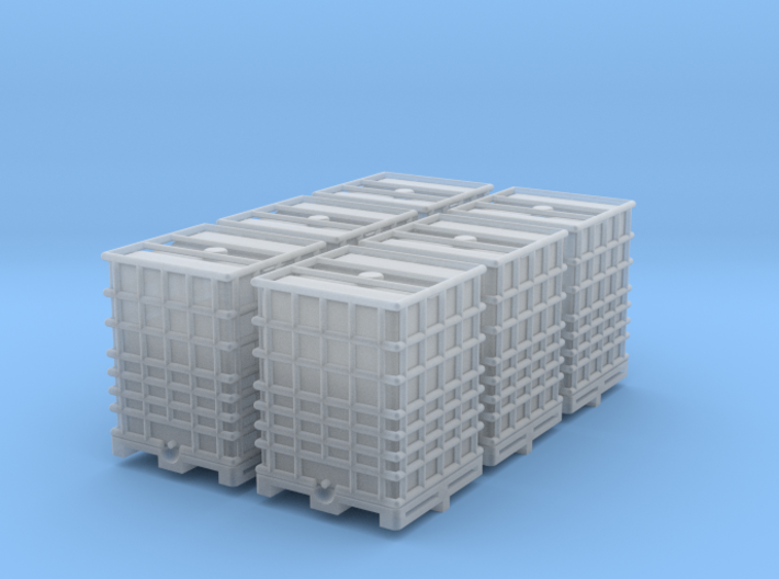 IBC Water Tank 1500 6 Pack 1-87 HO Scale 3d printed