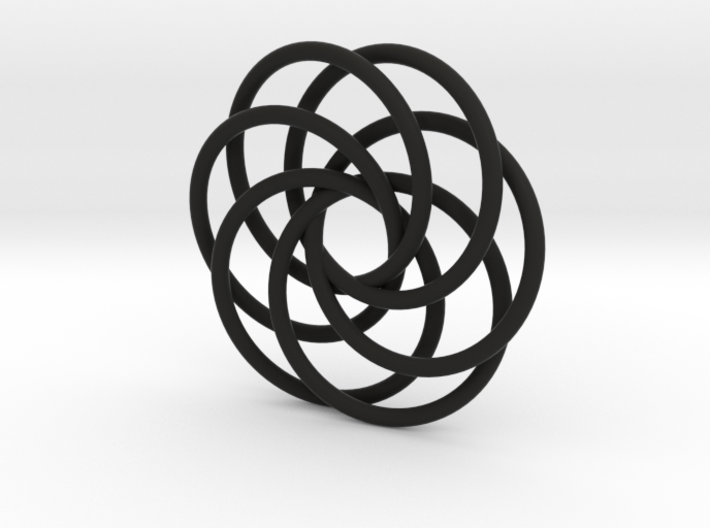 Interlocking Loops Pendant 3d printed