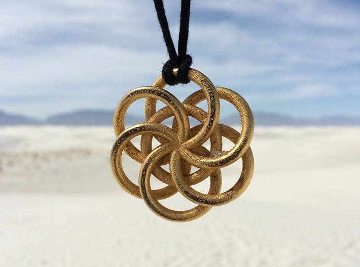 Large Woven Seed of Life Pendant 3d printed
