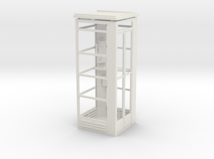 Telephone Booth, 1/32 Scale 3d printed