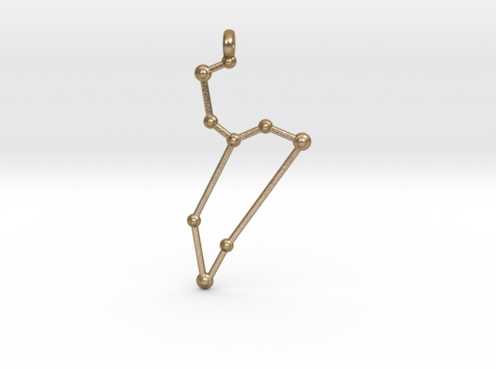 Leo Zodiac Constellation Pendant 3d printed