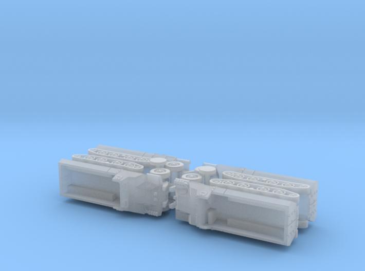 Japanese Type 1 Ho-Ha Halftrack 1/160 N-Scale 3d printed