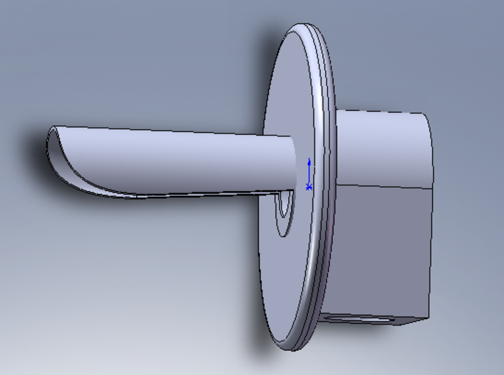 GWR GRS 2-aspect / 3-aspect 1/76 scale searchlight 3d printed 3D CAD image