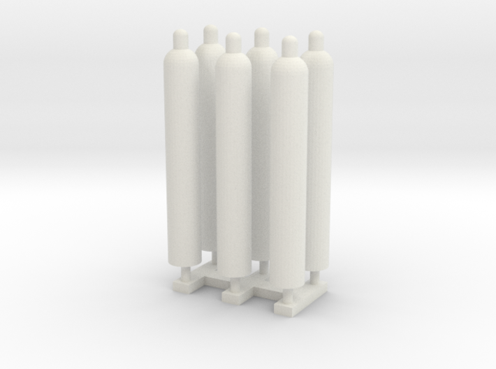 1:50 Gas Cylinders Pack of Six.  3d printed