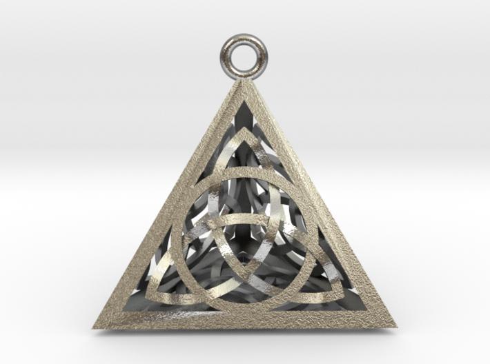 """Triquertahedron Pendant 1.2"""" 3d printed"""