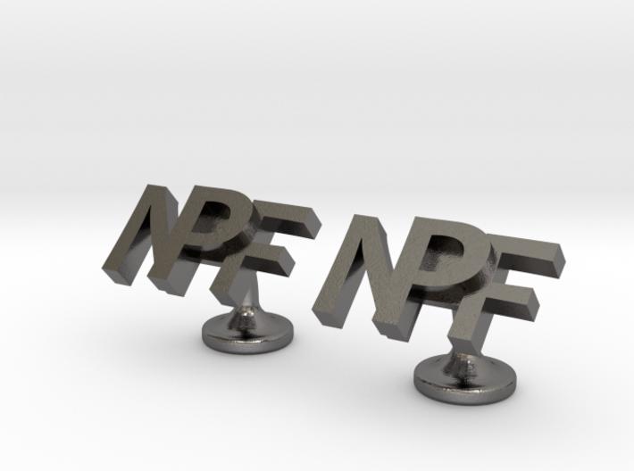 Personalised cufflinks NPF 3d printed