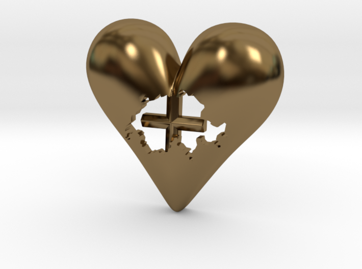 Switzerland (Suisse) in Heart Pendant 3d printed Switzerland in Heart Pendant