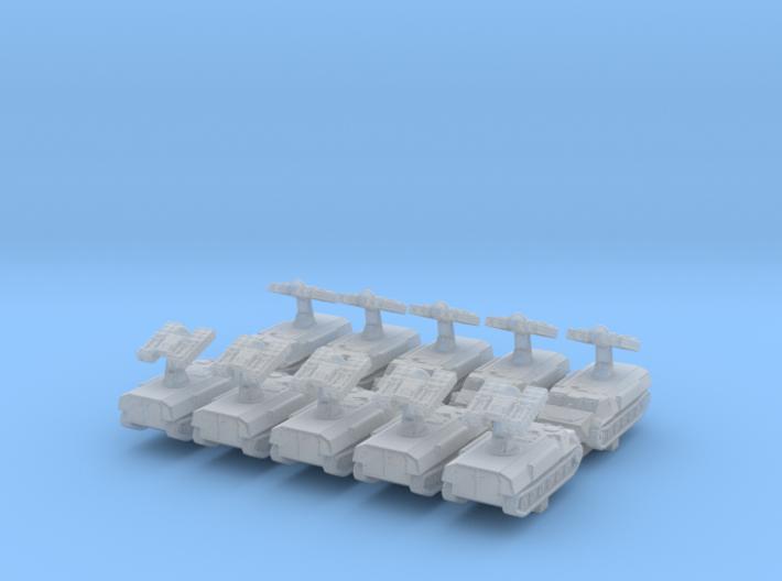 1/600 Russian 9K35 Strela-10 (SA-13 Gopher)SAM x10 3d printed 1/600 Russian 9K35 Strela-10 (SA-13 Gopher) SAM x10