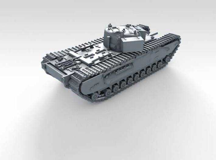 1/120 (TT) British Army Churchill I Heavy Tank 3d printed 3d render showing product detail