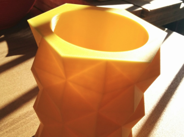 Prism Vase 3d printed Sample/prototype in 3D Printed ABS