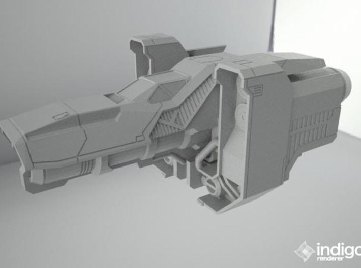 Industrial Space ship 3d printed Render