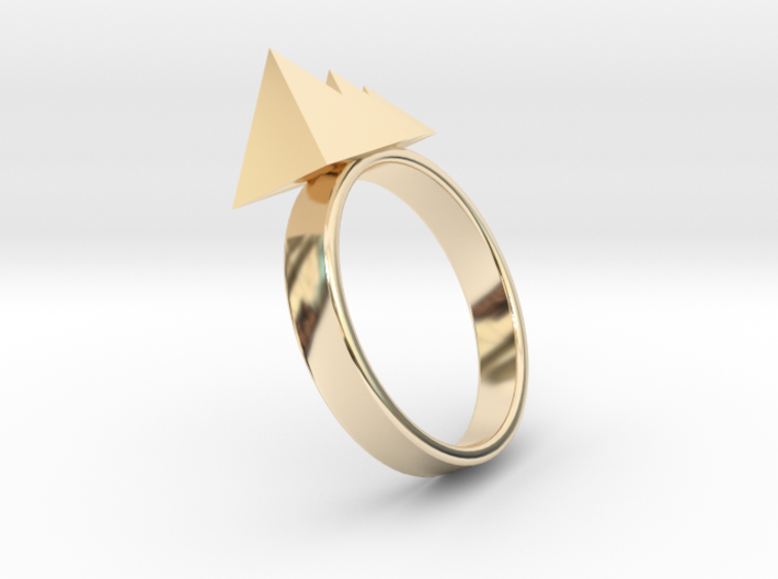 Egyptian Pyramids Ring 3d printed