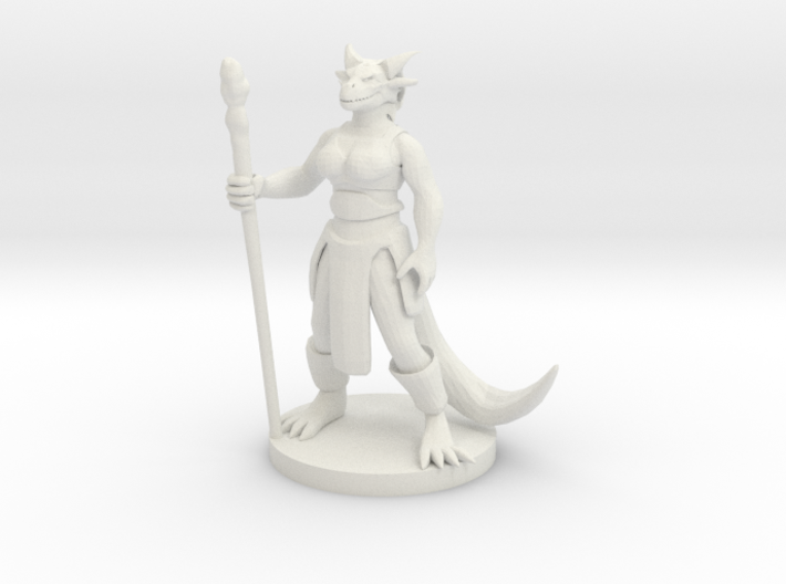 Dragonborn Female Magic Caster 3d printed