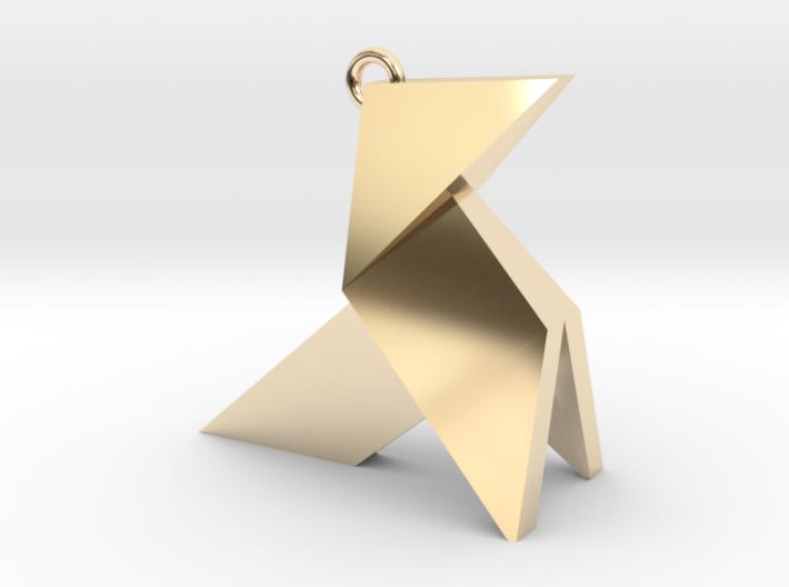 Origami earring 3d printed