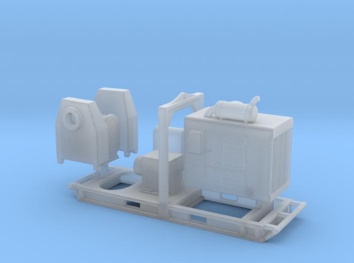 1/87th De-watering Diesel Water Pump 3d printed