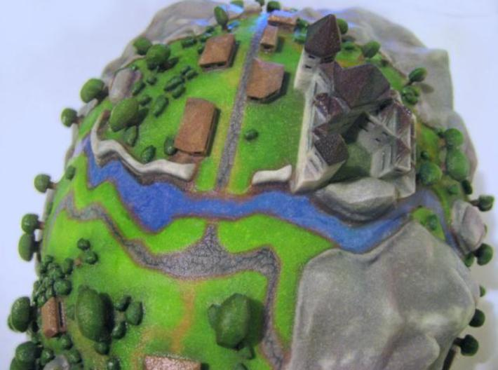Microcosmic Head Village 3d printed