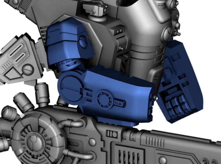 Stormwave - Arms for One Handed Weapon 3d printed Model preview