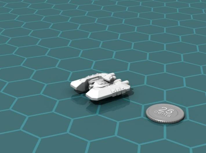 Badakh Cruiser 3d printed Render of the model, with a virtual quarter for scale.