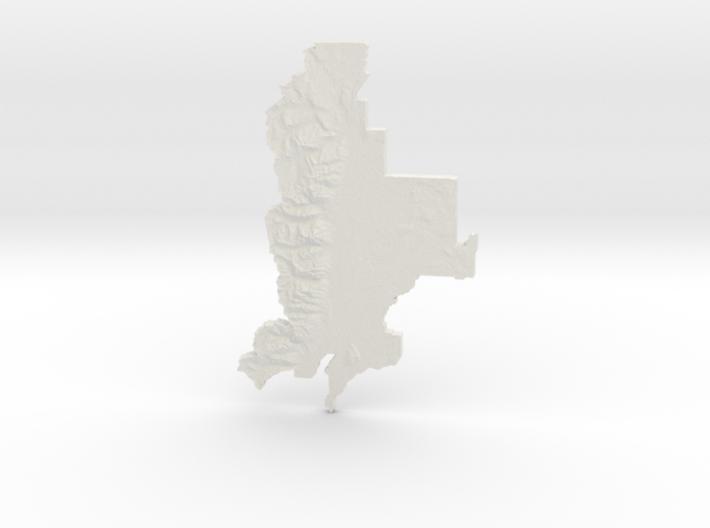 Grand Teton National Park, WY, 1:250000 Explorer 3d printed