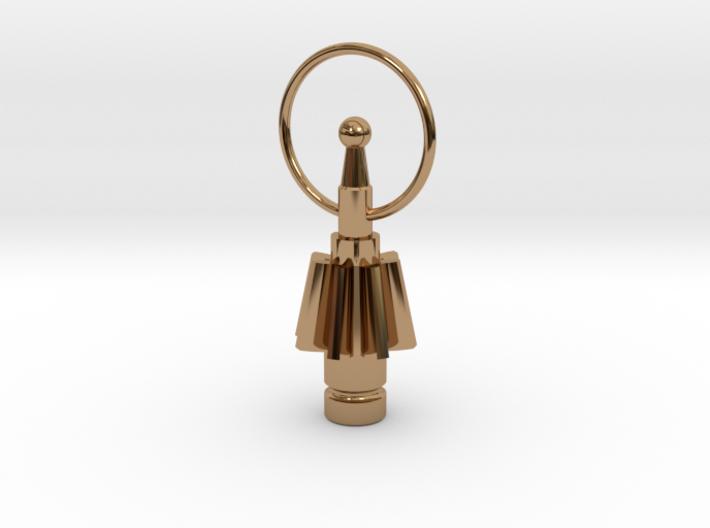 Industrial style earring 3d printed