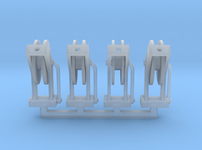 Hose Reel 4pack 1-50 Scale 3d printed