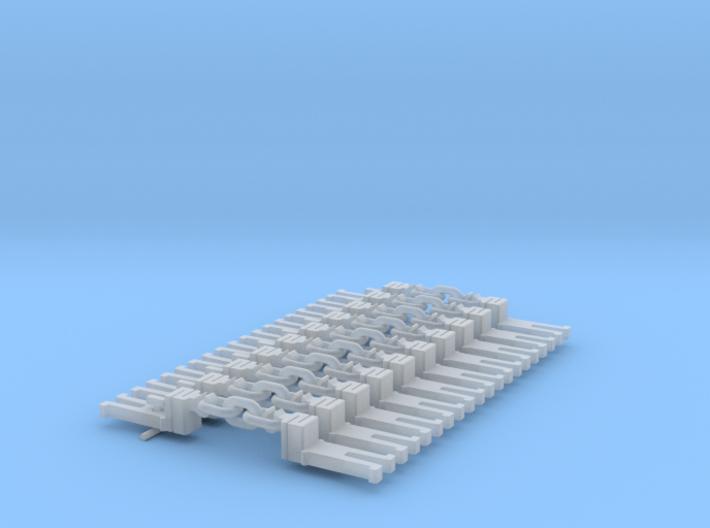 NEM OO Type 7 Couplings - Step Up 3 Link x10 3d printed
