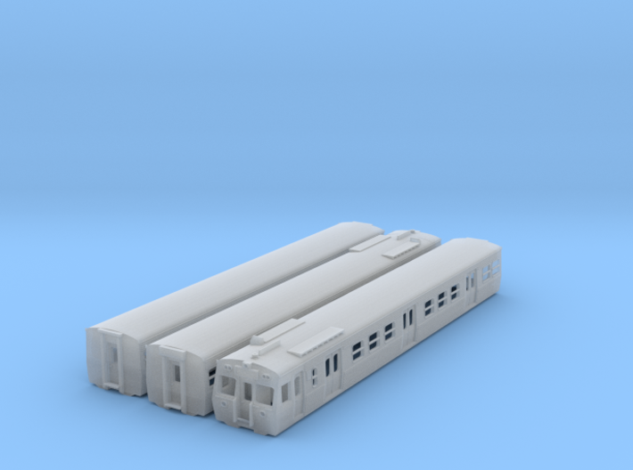 NHS2 - VR Hitachi 3 Car Set Orig Front - N Scale 3d printed
