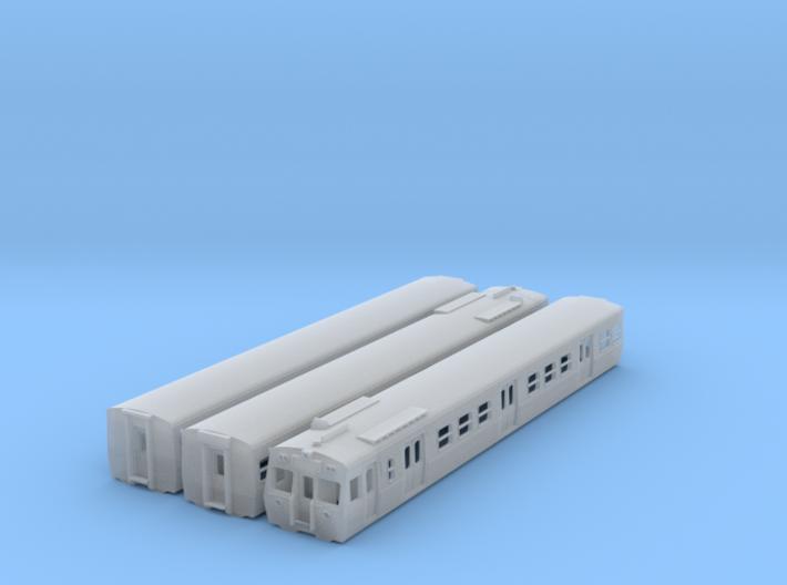 NHS2 - VR Hitachi 3 Car Set Orig Front - N Scale 3d printed