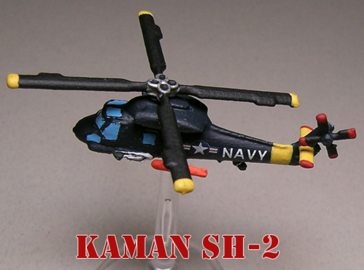 Kaman SH-2 Seasprite (two models) 1/285 6mm 3d printed Kaman SH-2 Seasprite in flight painted by Fred O.