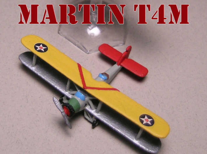 """Martin T4M (two airplanes set) 1/285 6mm 3d printed Martin T4M """"Torpedo Truck"""" (wheeled) painted by Fred O."""