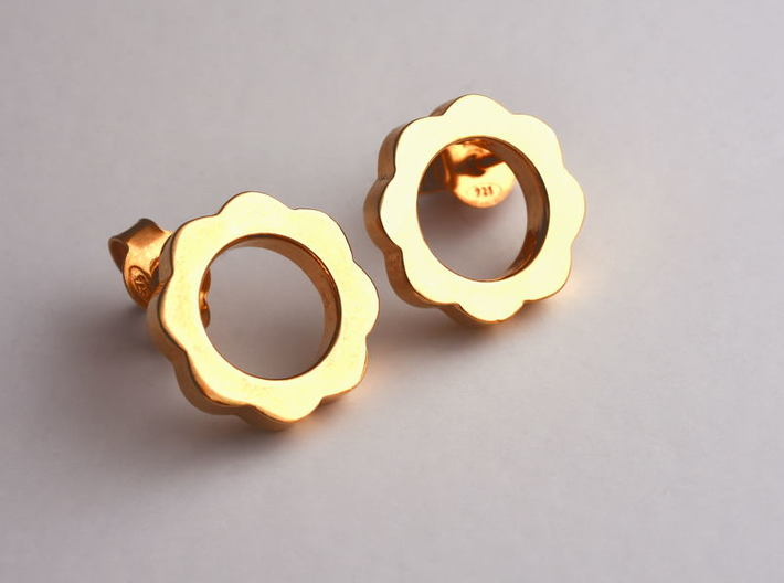 Flower Power - Stud Earrings 3d printed
