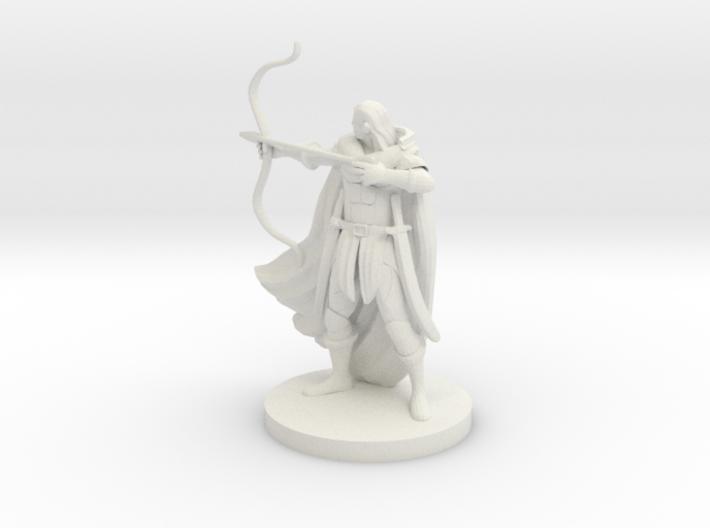 Elven Male Ranger 3d printed
