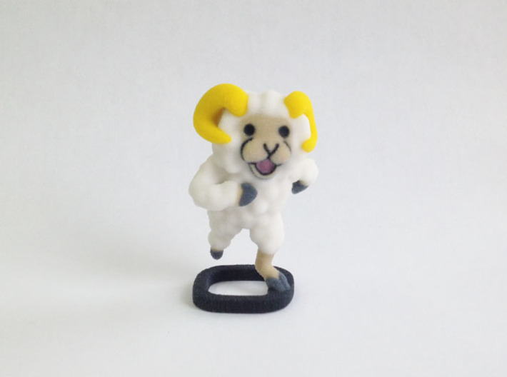 Furry Sheep 3d printed