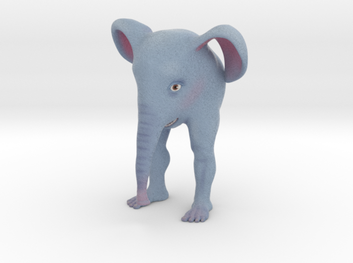 The Bipedal Elephant 3d printed This is Shapeway's best approximation of what the finished color print will look like