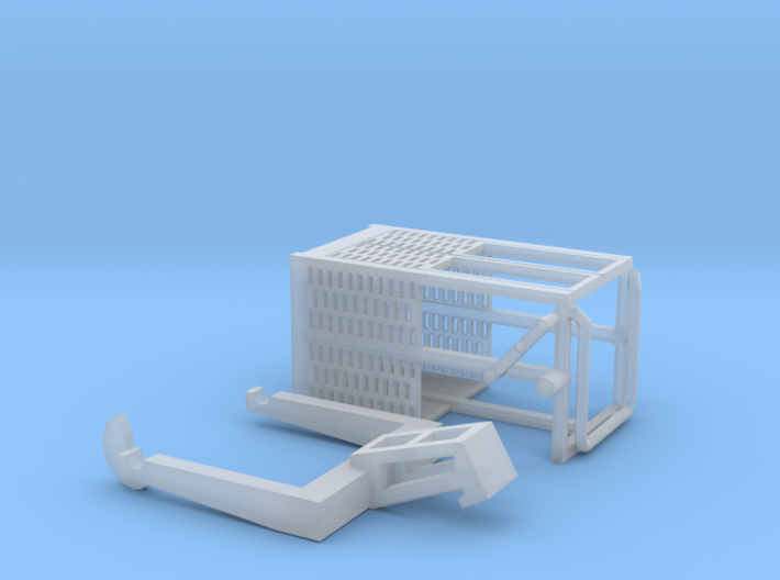 HO/1:87 Man basket for mini crawler crane 3d printed