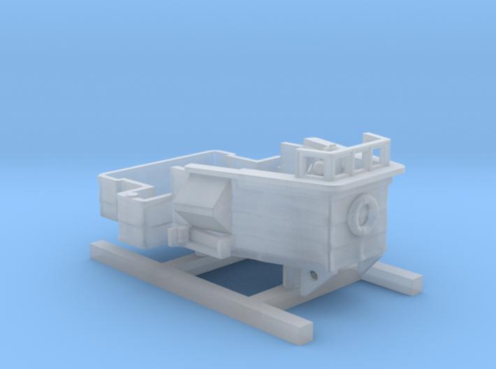 1/350 Scale HMS Walker Refit Bridge 3d printed 1/350 Scale HMS Walker Refit Bridge