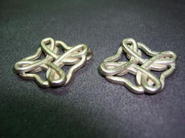 Friendship knot earrings 3d printed Face low
