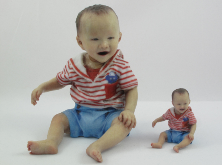 Scanned 7 month old Baby boy_7CM High 3d printed