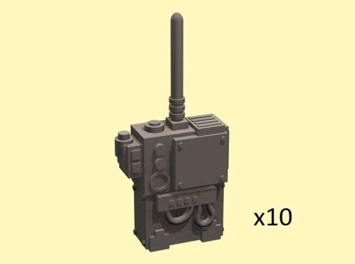 28mm radio transmitter backpack 3d printed