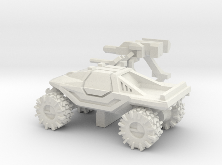 All-Terrain Vehicle closed cab with weapons 3d printed