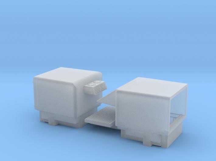 HO/1:87 Pickup cap aircon+deflector set VW AMAROK 3d printed