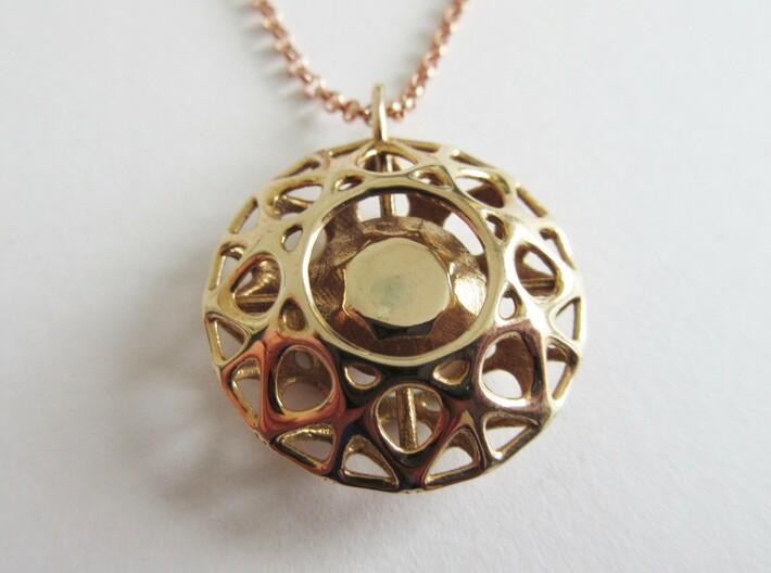Brilliant diamond pendant 3d printed
