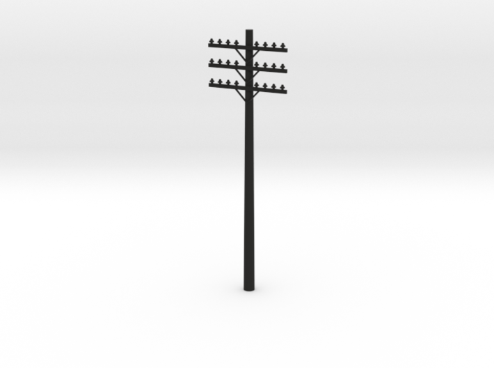 3-Arm Telephone Pole 3d printed