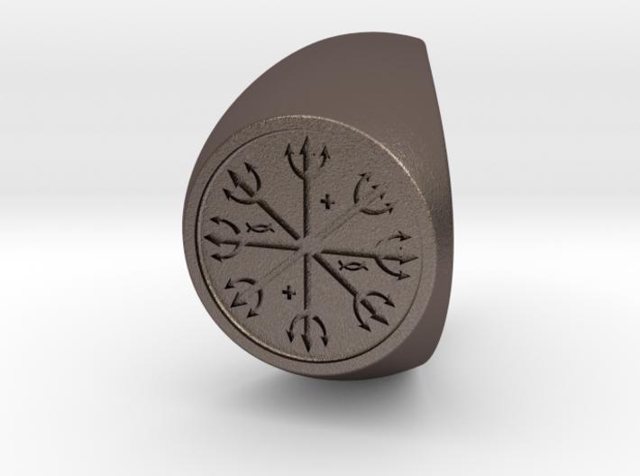 Custom Signet Ring 54 3d printed