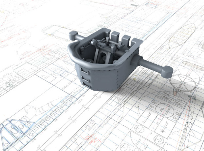 1/600 RN WW2 HACS MKII Open (4) 3d printed 3d render displaying product detail