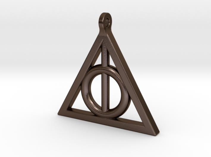deathly hollows pendant 3d printed