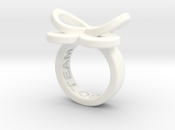 AMOUR petite in white polished plastic 3d printed