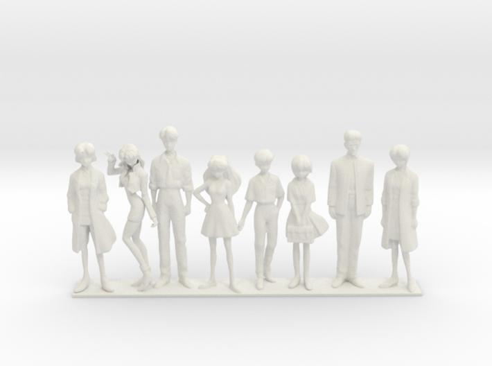 1/24 NERV Team w Base 3d printed